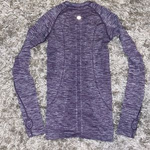 lululemon athletica Tops - Lululemon heathered purple swiftly tech longsleeve